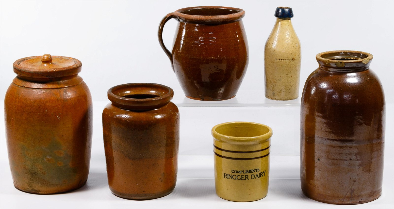 Galena and Redware Pottery Assortment