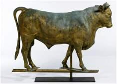 Folk Art Bull Form Weathervane Topper