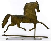 Folk Art Horse Form Weathervane Topper