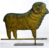 Folk Art Ram Form Weathervane Topper