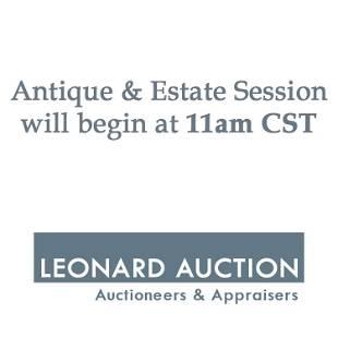 The Antique Estate Session Begins at 11am CST
