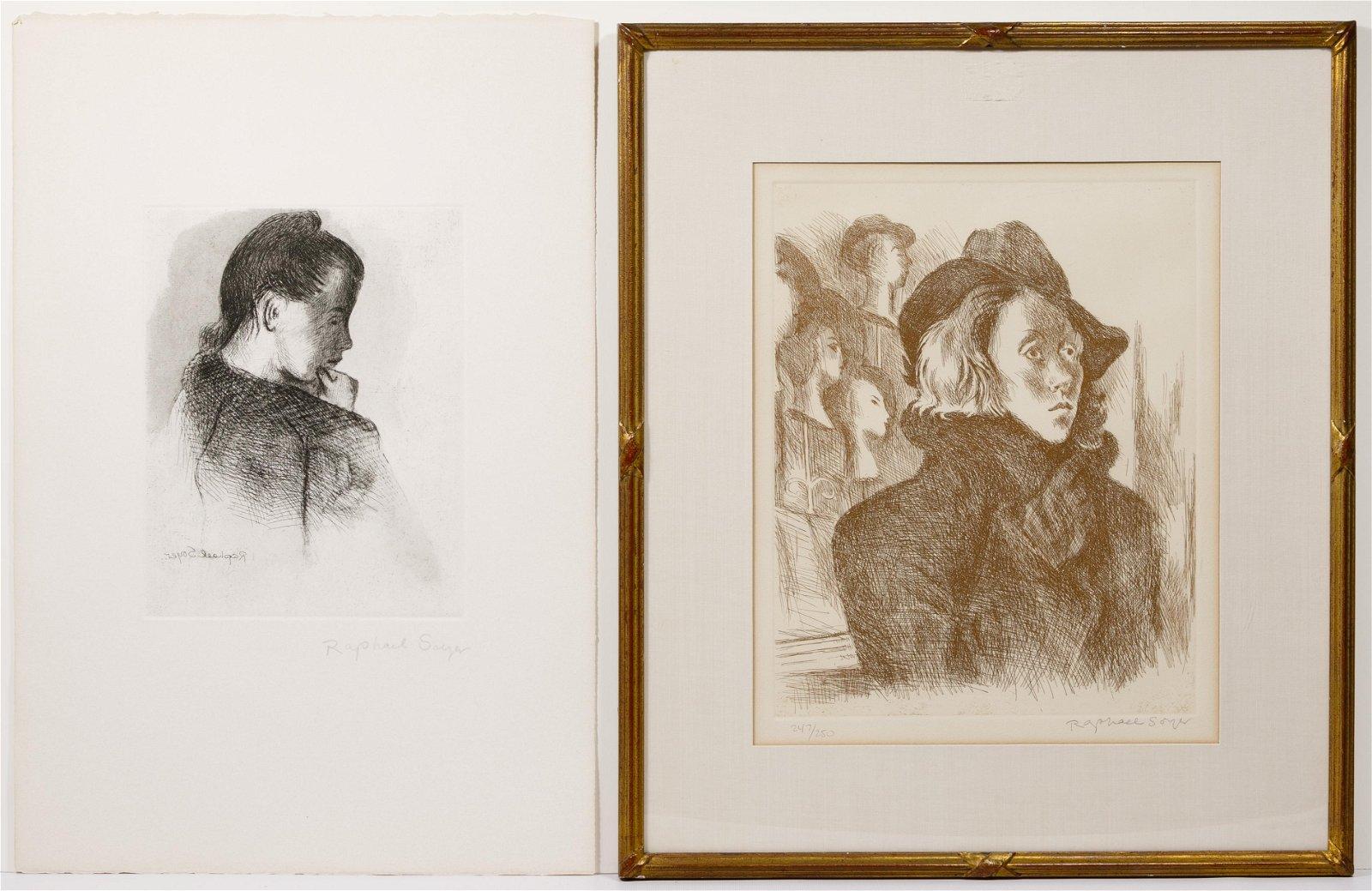 Raphael Soyer (Russian / American, 1899-1987) Etchings