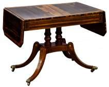 English Regency Drop Leaf Sofa Table