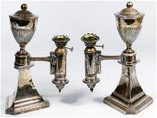 Silverplate Oil Lamps