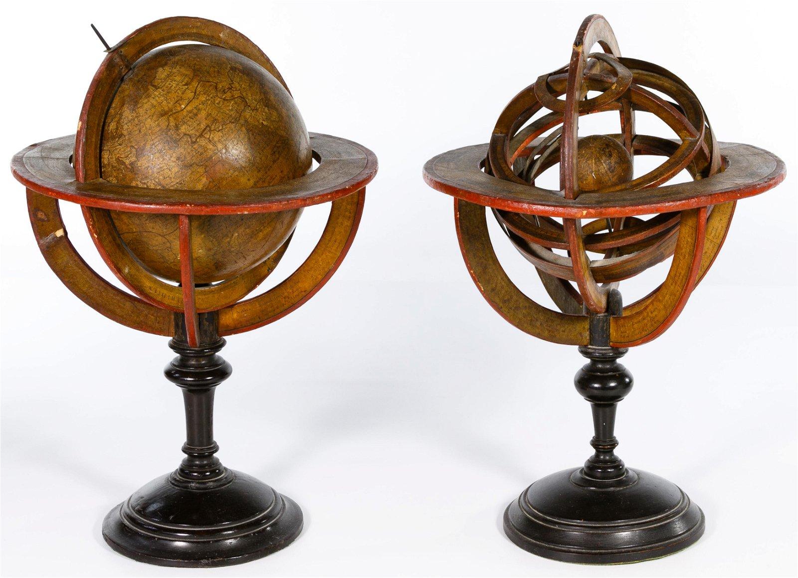 Terrestrial Globe and Armillary Sphere