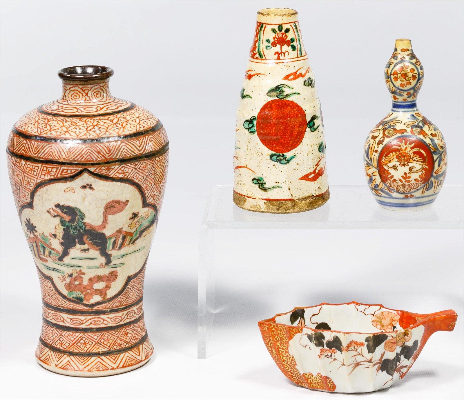 Japanese 'Imari' Pottery Assortment