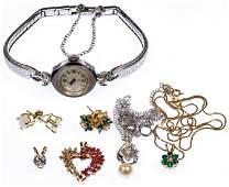 14k Gold and Gemstone Jewelry and Wrist Watch