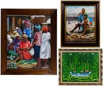 Various Artists (Haitian, 20th Century) Acrylic on