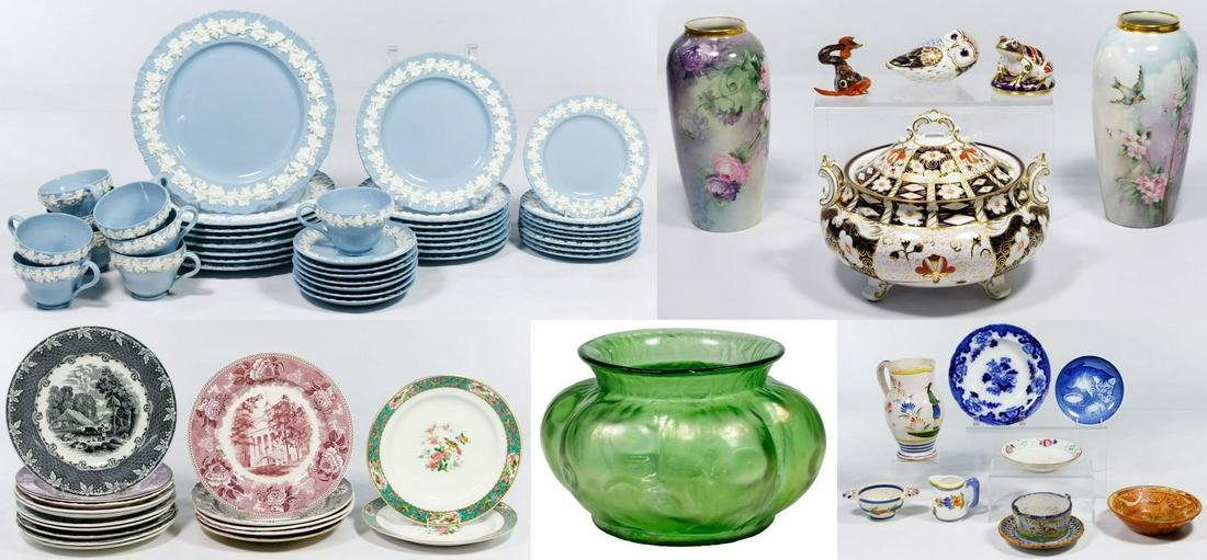 Wedgwood China, Porcelain and Pottery Assortment