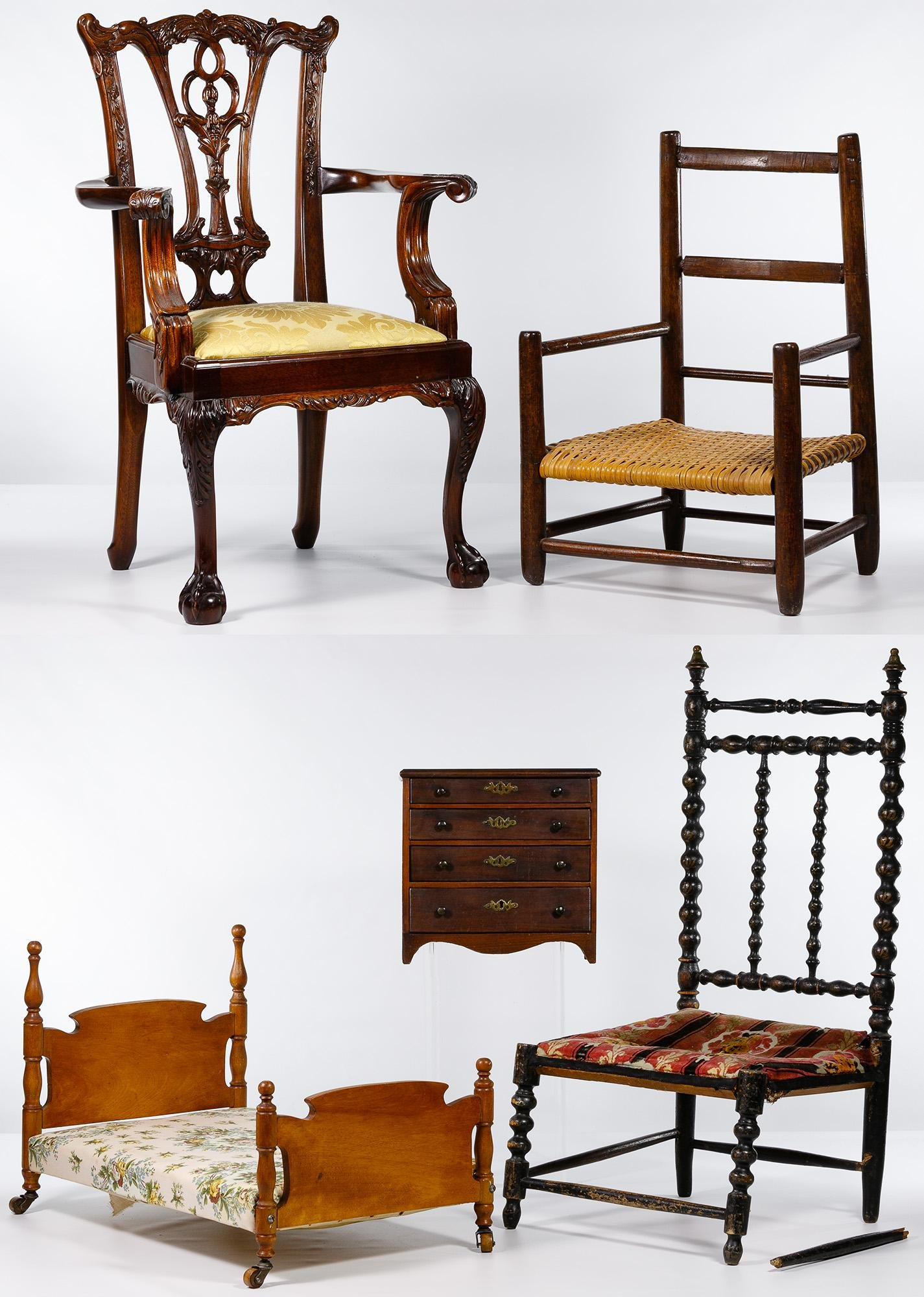 Children Chair and Doll Furniture Assortment