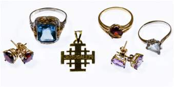 18k Gold 14k Gold and 10k Gold Jewelry Assortment