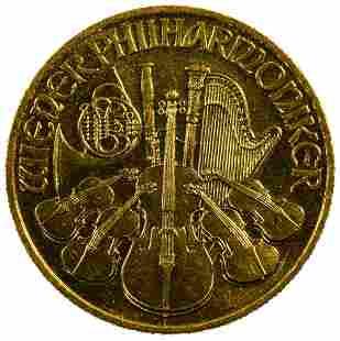 Austria 1989 Gold 500 Schillings Philharmonic