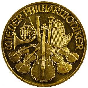 Austria 1996 Gold 500 Schillings Philharmonic