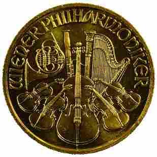 Austria 1997 Gold 500 Schillings Philharmonic