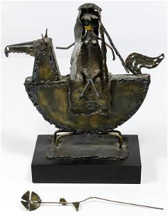Jack Hanson American b1933 Metal Statue