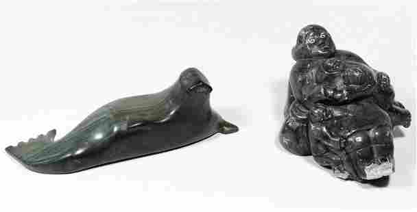 Inuit Carved Soapstone Statues