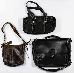 Coach Leather Handbag and Briefcase Assortment