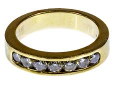 14k Gold and Diamond Band Ring
