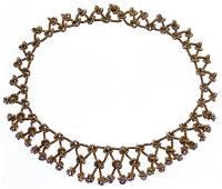 Verdura 14k Gold and Diamond Knot Necklace