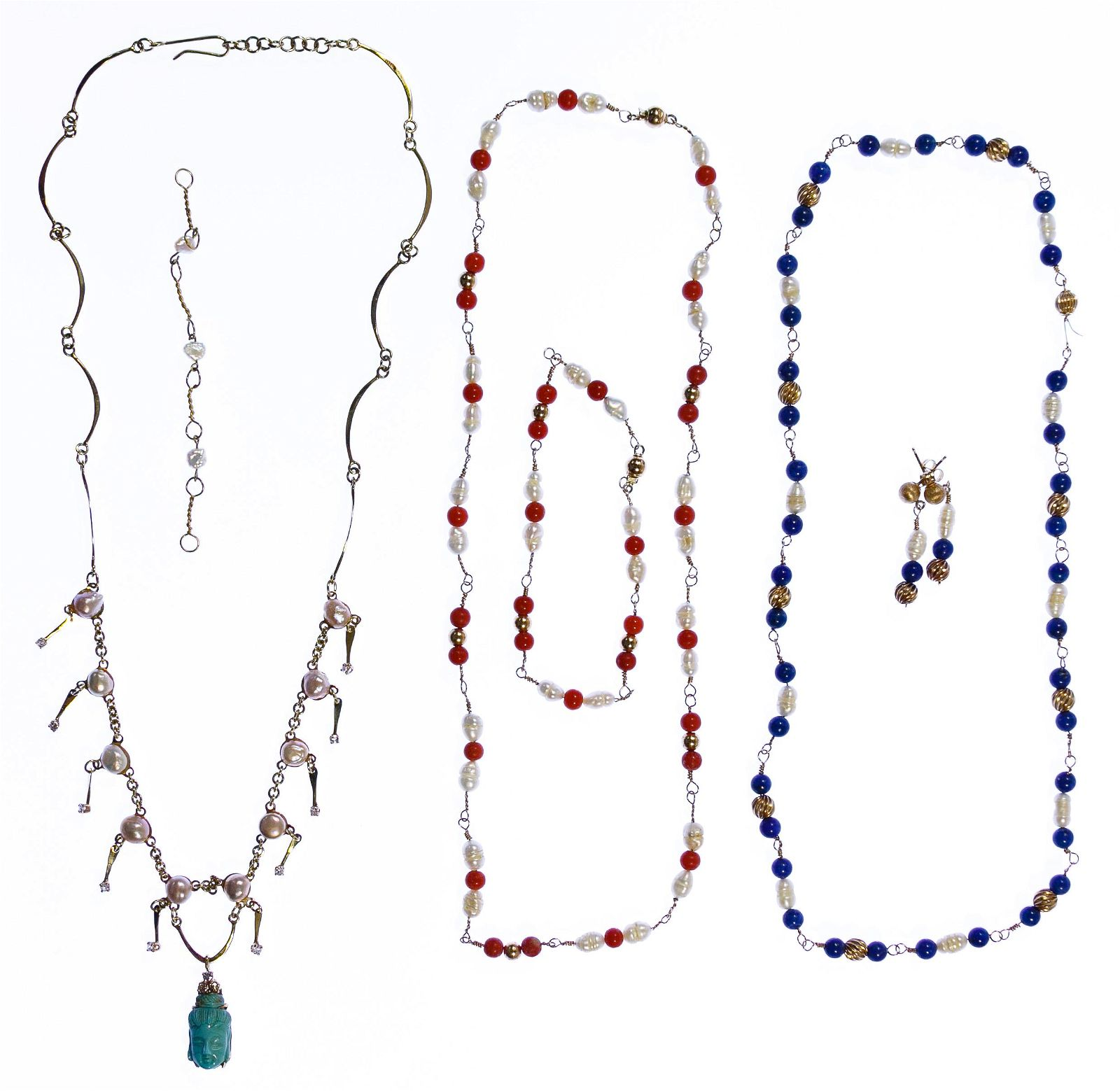 14k Gold and Freshwater Pearl Jewelry Assortment