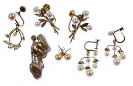 14k Gold and Pearl Jewelry Assortment