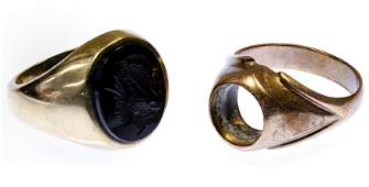 10k Gold and Onyx Ring and Setting