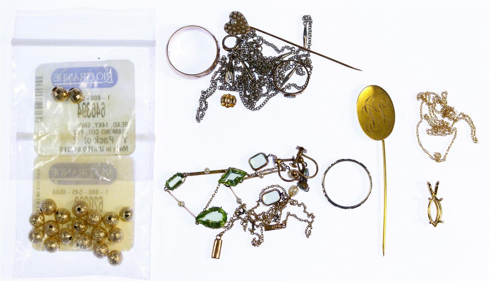 14k / 10k / 9k Gold Jewelry Assortment