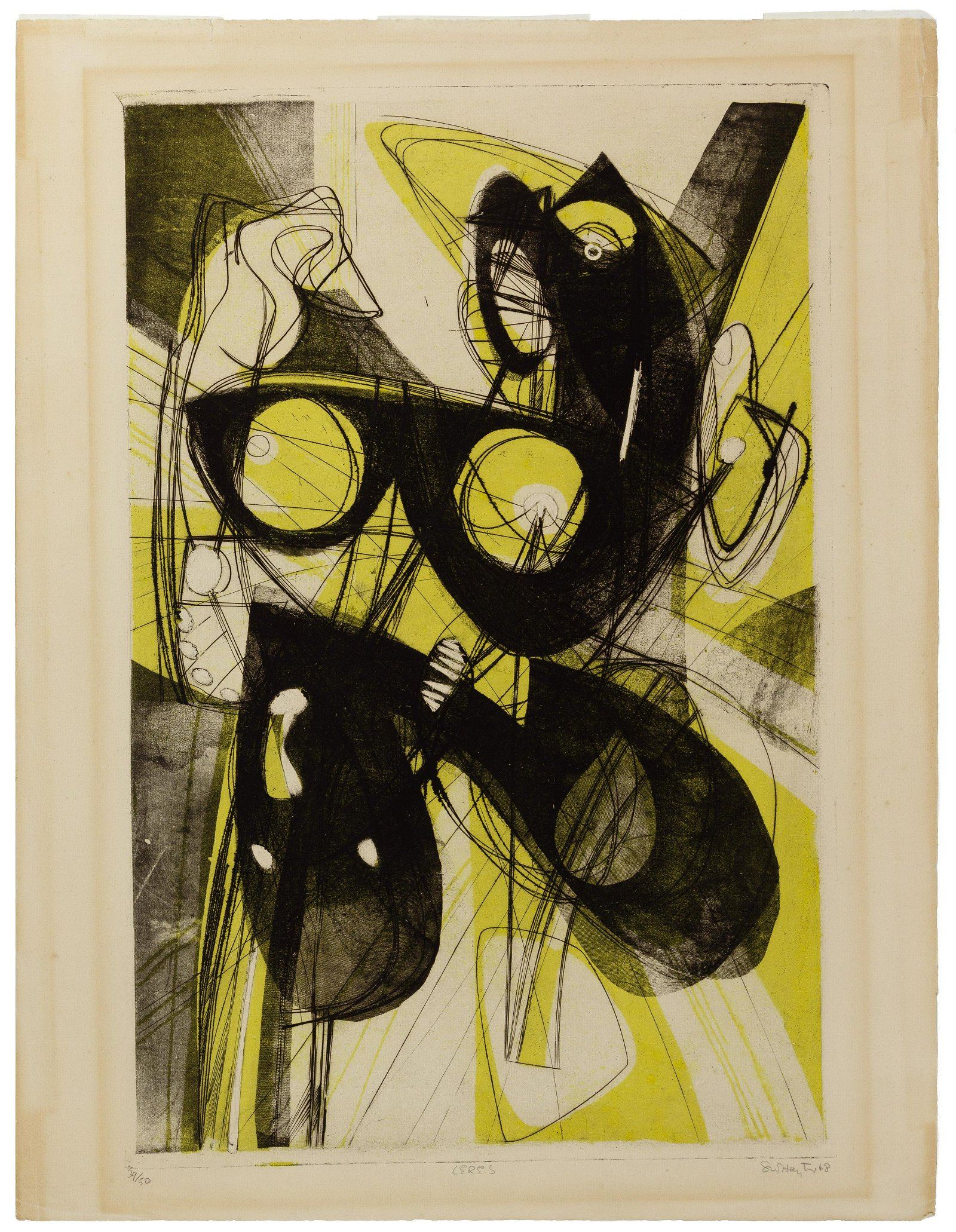 Stanley William Hayter (American, 1901-1988) 'Ceres'