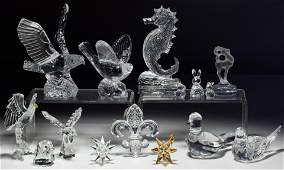 Lalique, Baccarat, Waterford and Swarovski Crystal