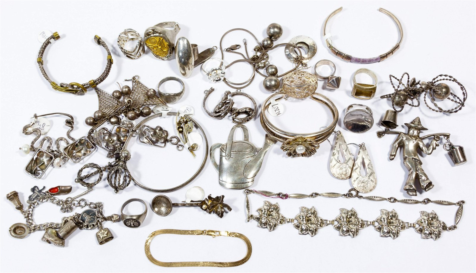 14k Gold and Mixed Silver Jewelry Assortment