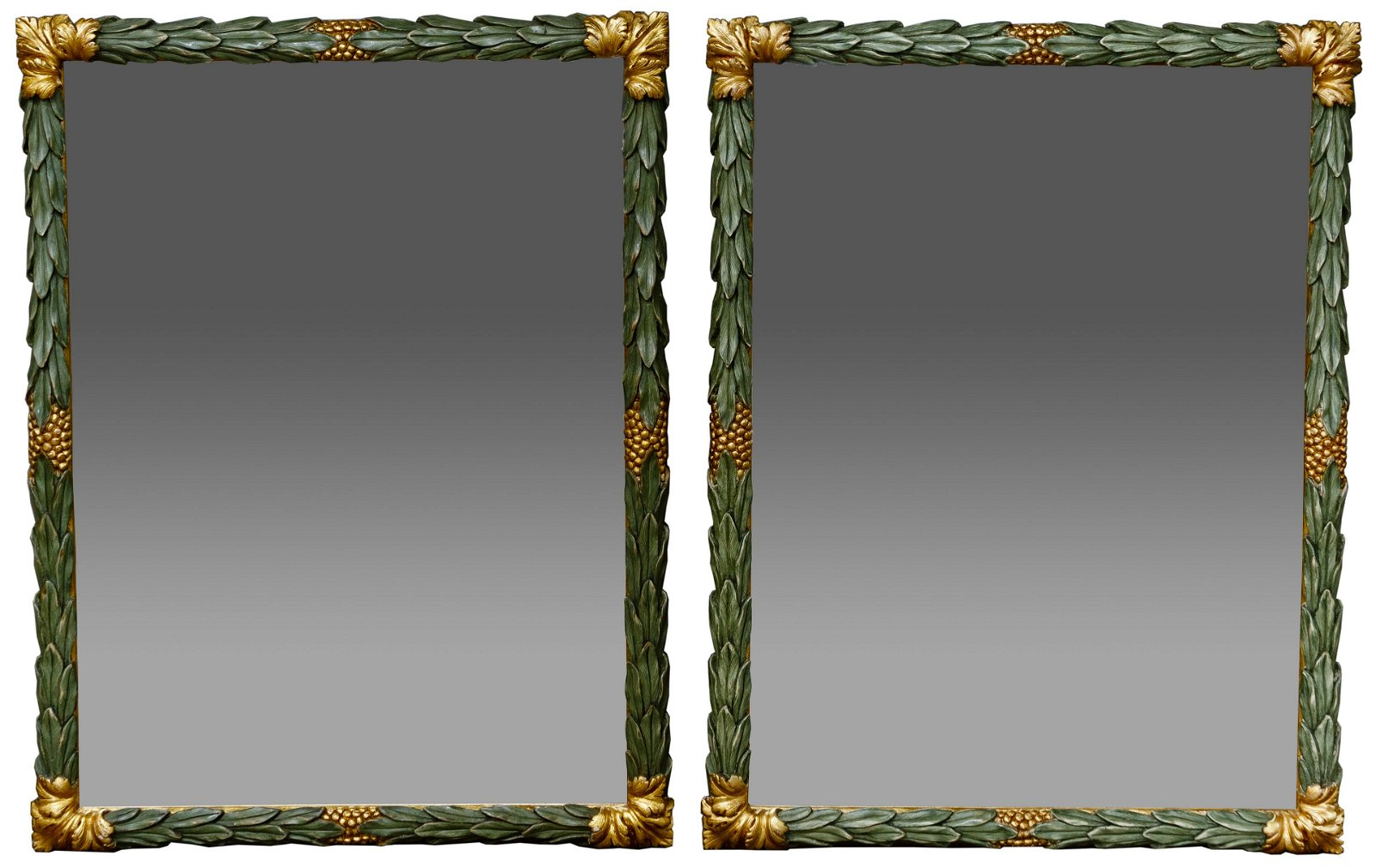 Carved Leaf Wall Mirrors