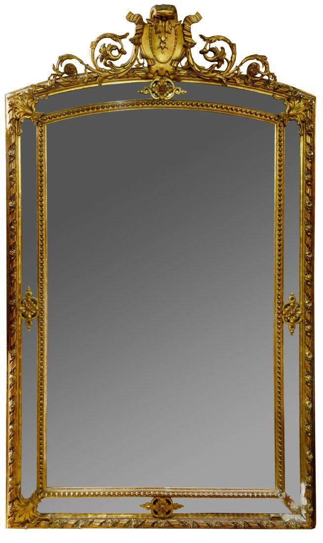 Gold Square Mirror