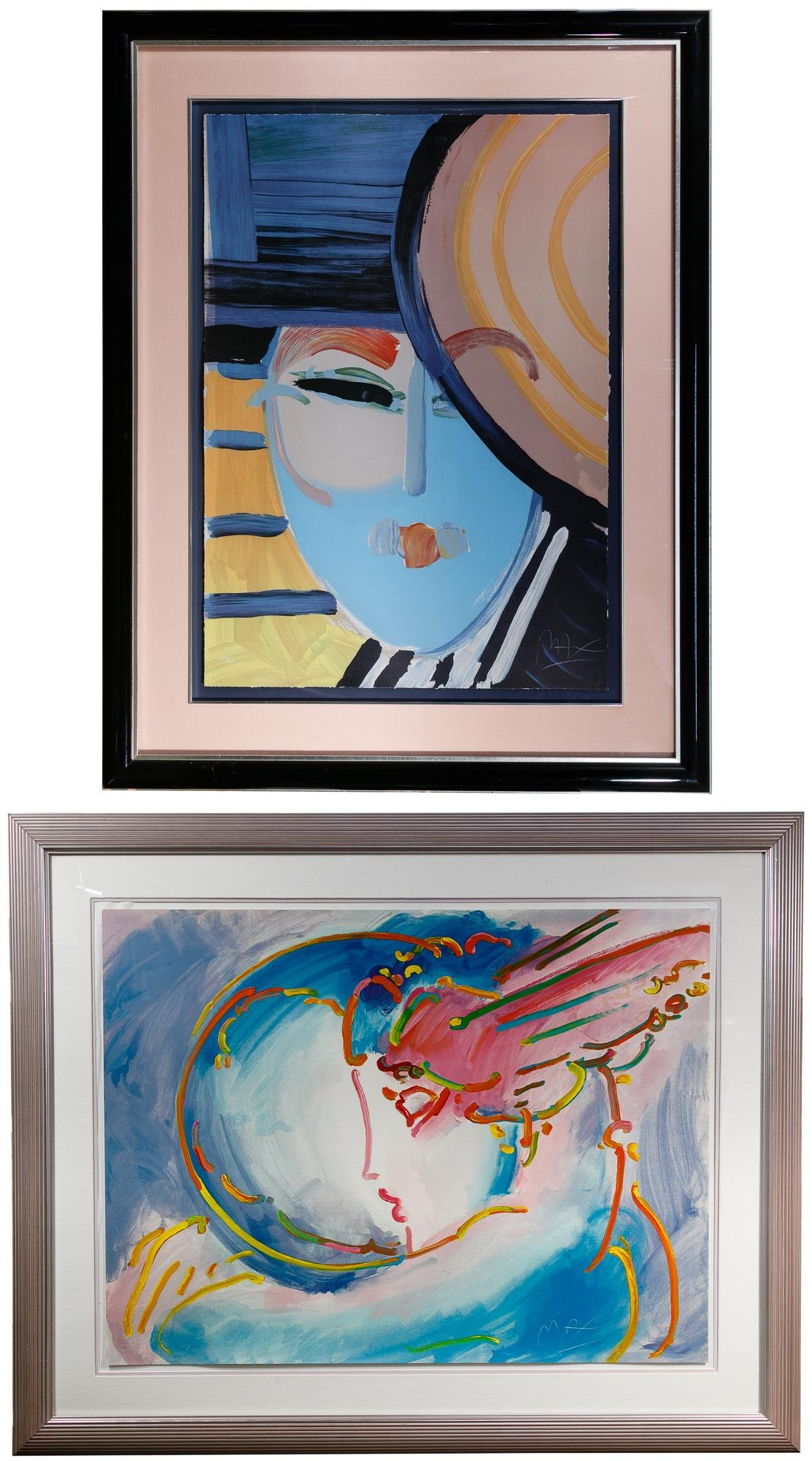 Peter Max (American, b.1937) 'Deco Lady' Lithograph