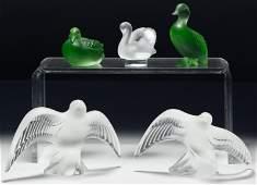 Lalique Crystal Bird Figurine Assortment