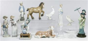 Lladro and Lalique Crystal Assortment
