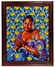Kehinde Wiley (American, b.1977) 'Psyche Abandoned' Oil