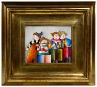 Joyce Roybal American b1955 Oil on Canvas