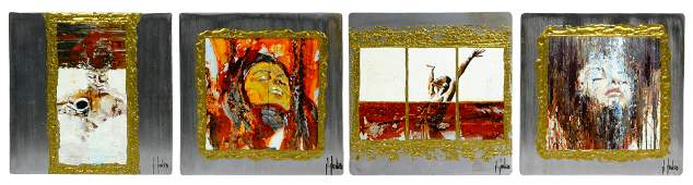 Unknown Artist American 20th Century Acrylics on