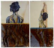 Unknown Artist (American, 20th Century) Acrylics on
