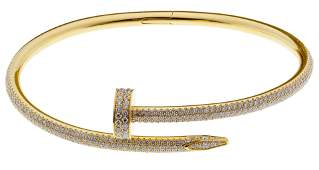 Cartier 18k Yellow Gold and Diamond 'Juste un Clou'