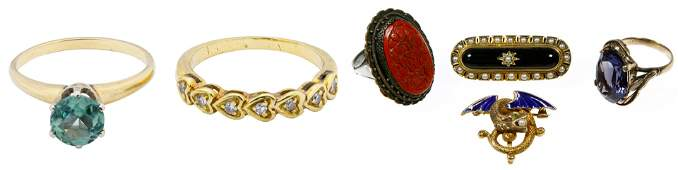 Mixed Gold Sterling Silver and Costume Jewelry