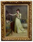 De Scott (David) Evans (American, 1847-1898) 'Figure at