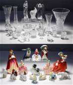 Lalique, Baccarat, Waterford, Royal Doulton, Herend
