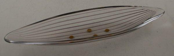 11: 11: Kosta Boda Clear glass elongated shape dish