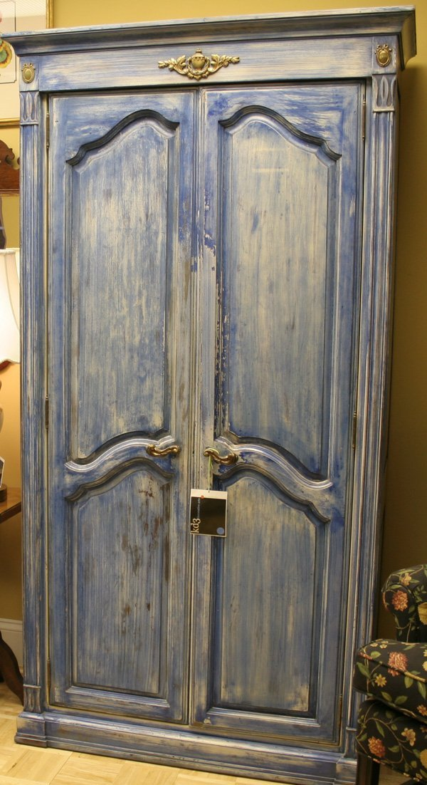 14A: 14a: French Provincial style Armoire with Custom P