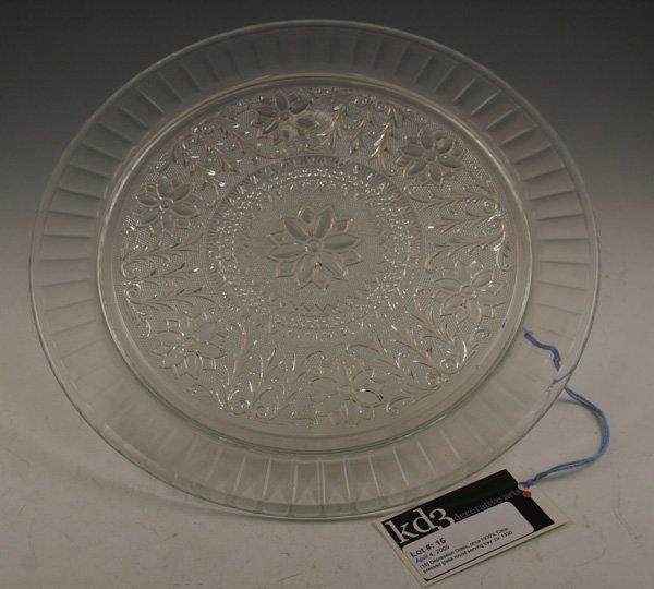 15: 15: Depression Glass, circa 1930's, Clear pressed g