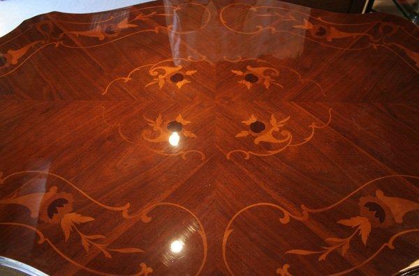 501: 501: Italian inlaid marquetry, walnut dining table - 2