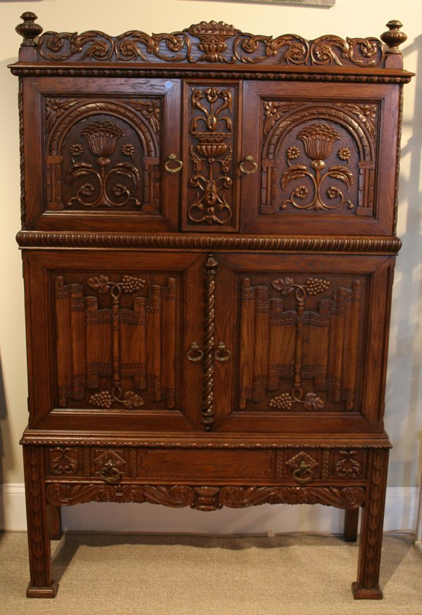 617: 617: Batesville carved oak cupboard. ca. 1910 - 19