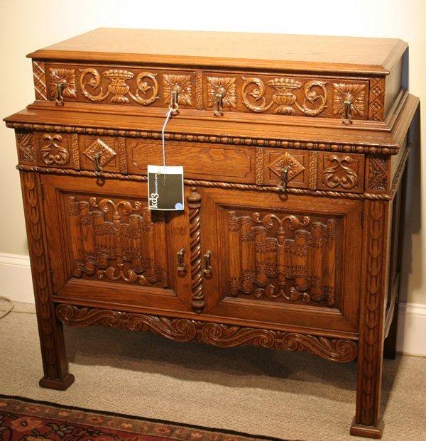 620: 620: Batesville carved oak server. ca. 1910 - 1920