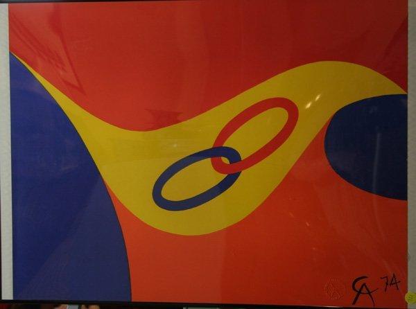 645: 645: Alexander Calder signed lithograph, ca. 1974